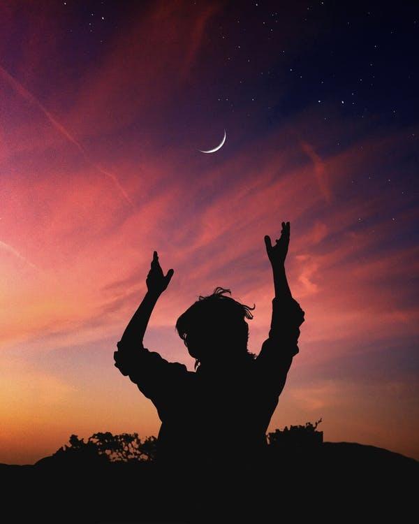 Macht Kraft Mond Bündele das Bewusstsein auf das Mondritual